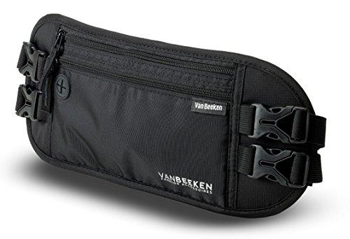 VAN BEEKEN Money Belt Bumbag Fanny Pack Waist Bag for Men Women I Hip Bum Bag