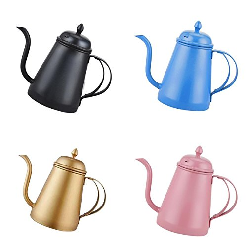 MagiDeal 4 Colors Stainless Steel Hand Drip Coffee Pot Pour Over Gooseneck Kettle by MagiDeal