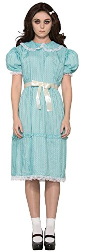 Twins From The Shining Costume (Forum Women's Creepy Sister Costume Dress, Blue, STD)
