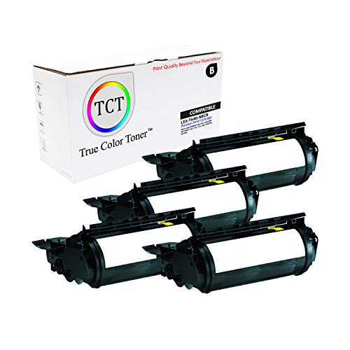 (TCT Premium Compatible Toner Cartridge Replacement for Lexmark 64035HA MICR Black High Yield Works with Lexmark T640 T642 X642 IBM 1532 Dell 5210 Toshiba eStudio 500P Printers (21,000 Pages) - 4 Pack)