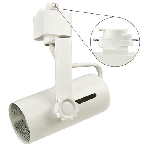 (Nora Track Light NTH-109W - White - Universal Lamp Holder - Operates PAR38 - Compatible with Halo Track - 120 Volt)
