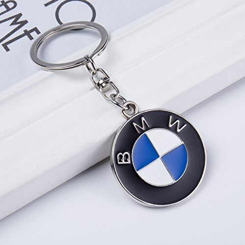 QZS Car Logo Key Chain Ring 2020 3D Chrome Metal Car Keychain Keyring Family Present for Man and Woman Gifts Elegant Durable for BMW Cars