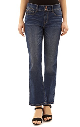 Angels Women's Curvy Bootcut Jeans in Steel Size:12
