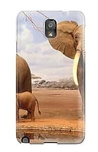 diy phone caseAnti-scratch And Shatterproof Elephant Phone Case For Galaxy Note 3/ High Quality Tpu Casediy phone case