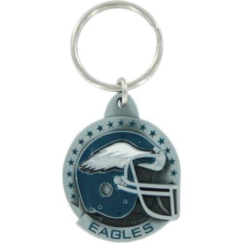 Philadelphia Eagles Pewter Helmet Round Keychain