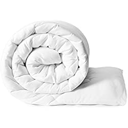 Bien Living All-Season White Down Alternative Quilted Comforter Duvet - Plush Siliconized Fiberfill - Hypoallergenic, Box Stitched Down Alternative Comforter - Twin/Twin XL