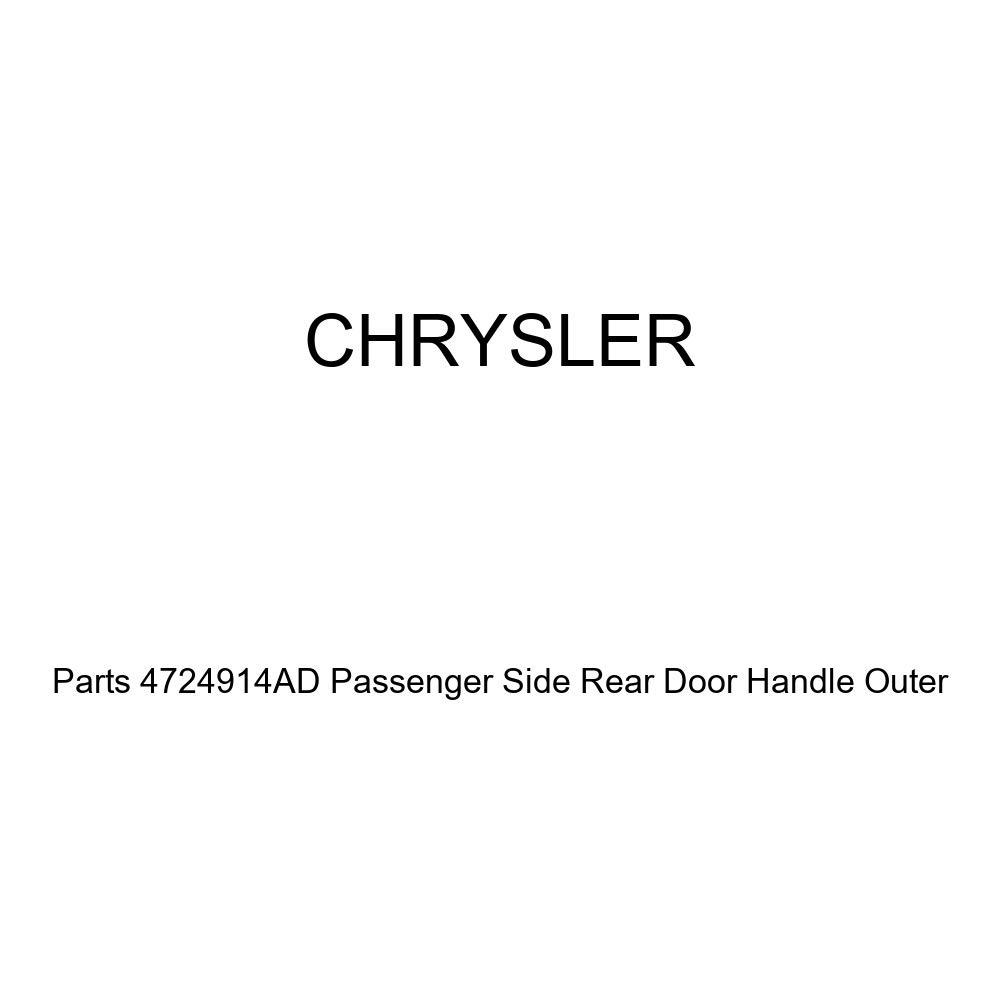 Genuine Chrysler Parts 4724914AD Passenger Side Rear Door Handle Outer