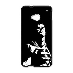 Superman Dark Background HTC One M7 Cell Phone Case Black Delicate gift AVS_564933