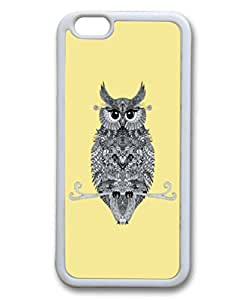 YTSOOP(TM)iPhone 6 Plus Case, Cute Fancy owl yellow Pattern Hard Back Case Cover Fit for iphone6 5.5Inch(Animal owl)