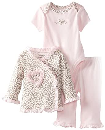 Little Me Baby-Girls Newborn Leopard Take Me Home Set, Pink/Multi, 3 Months