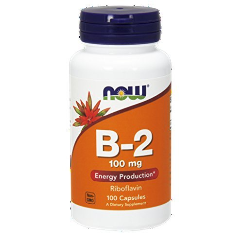 NOW  Vitamin B-2 (riboflavin) 100mg, 100 Capsules (Pack of 3)