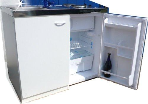 Miniküche Mit Kühlschrank Und Spüle : Singleküche pantryküche cm weiß miniküche büroküche kochplatte
