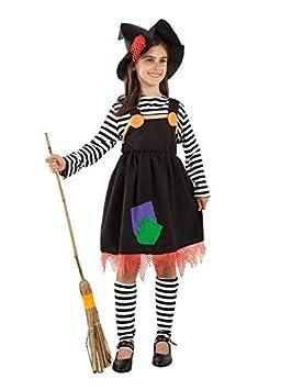 DISBACANAL Disfraz de Bruja a Rayas para niña - Único, 4 años ...