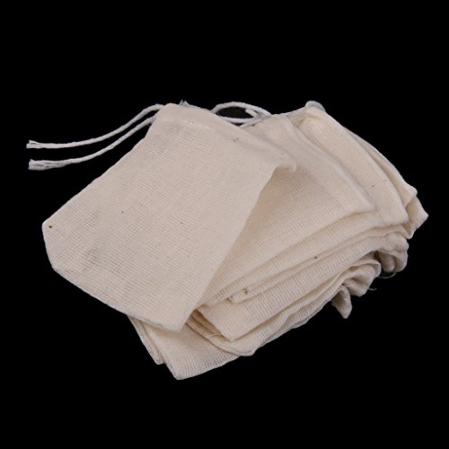 50pcs-Drawstring-Bags-Nut-Milk-Tea-Fruit-Juice-Strainer-Filter-Bag