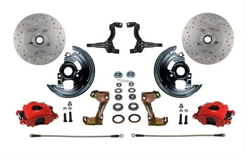 Leed Brakes RFC1003SMX Front Disc Brake Kit w/2 in. Drop Spindles GM A/F/X-Body ()