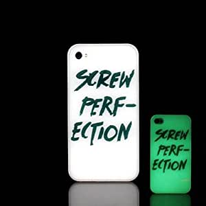 WQQ iPhone 4/4S compatible Graphic/Special Design/Glow in the Dark Back Cover
