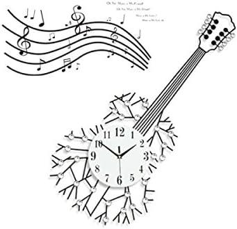 CHLWW Artesanía Guitarra Notas Musicales Hierro Forjado Diamante ...
