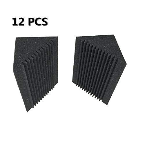 (Love^Store - Wall Stickers - Sound Absorption Studio Foam Black Corner Bass trap Acoustic Foam 12 PCS - by Love^Store - 1 PCs)