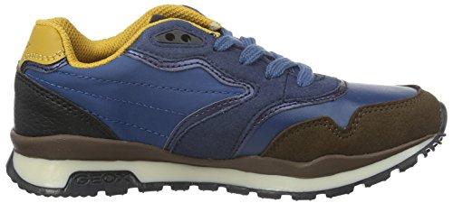Geox J Pavel C, Zapatillas Para Niños Blau (BLUE/YELLOWC0072)