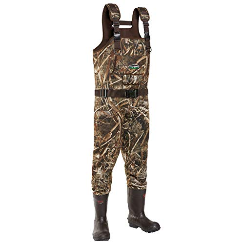 TideWe Chest Wader, Cleated Neoprene Hunting Wader for Men, Waterproof Bootfoot Wader, Hunting &...