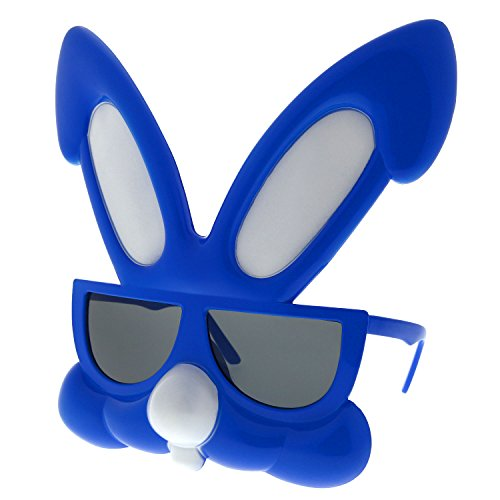 Scary Easter Bunny Costumes (grinderPUNCH Rabbit Party Costume Sunglasses Bunny Animal Furries Easter Egg Blue)