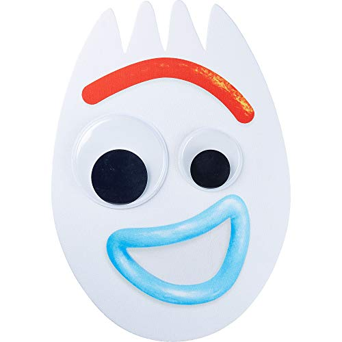 Party City Toy Story 4 Forky Mask for Children, One Size, Measures 11 3/4 Inches by 17 Inches with an Attached Elastic ()