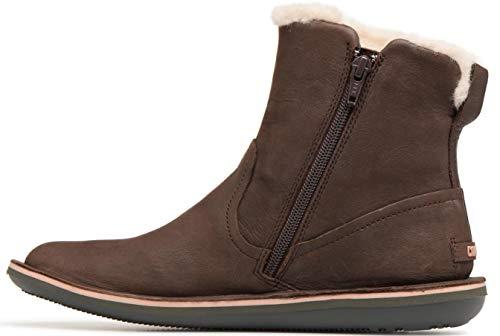 #Camper Beetle K400292 Dark Brown Womens Hi Leather Boots