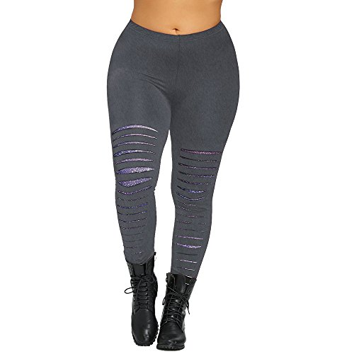 iHPH7 Leggings,Leggings for Women,Leggings Women,Pants for Women,Pantyhose for Women,Yoga Pants 5XL Gray