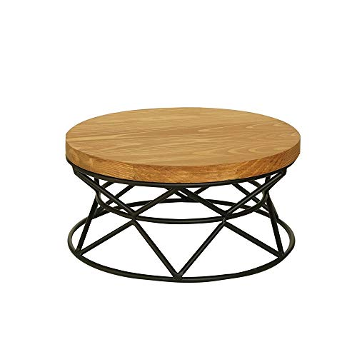 DDSS Cake stand- Wooden cake tray wrought iron cake display stand wedding party cake stand European high tray creative wood snack frame, 2 colors, 2 styles /-/ (Color : B, Size : 27X13cm)