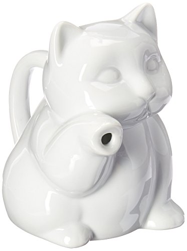 HIC Harold Import Co. NT-952 Porcelain Cat Creamer 8 Oz. NT-952-HIC Standard
