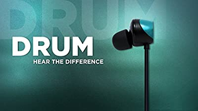 "Tunai Creative Drum Hi-Res Earphone - In-ear Headphones with Extra Large 1/2"" Drivers for Improved Soundstage and Bass Response"