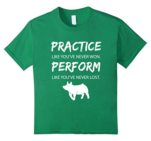 Badass Little Girl Costumes (Kids Perfect Farmer T-Shirts PRACTICE like you've never won Shirt 4 Kelly Green)