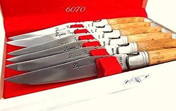 6070 bois Teck Laguiole Bougna Francia. rústico colección ...