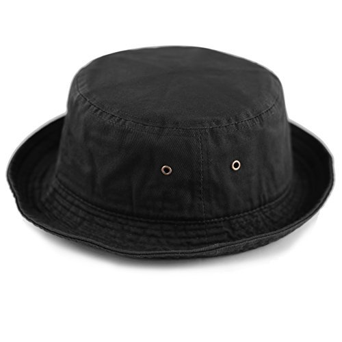 876c054603e THE HAT DEPOT 300N Unisex 100% Cotton Packable Summer Travel Bucket Hat -  Exclusive Products