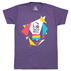 Show your love for Taco Bell with this Heather Purple tee. It features Taco Bell's iconic logo with multi-color confetti on a 50% cotton, 50% polyester tee.