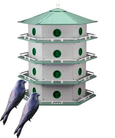 BestNest Heath 24-Room Deluxe Purple Martin House with Decoys
