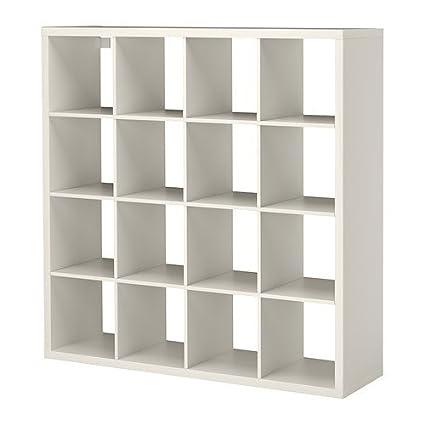 Libreria Legno Ikea.Ikea Libreria Kallax Colore Bianco 147 X 147 Cm Amazon