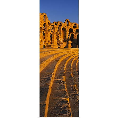 GREATBIGCANVAS Poster Print Entitled Old Ruins of an Amphitheater, Roman Theater, El Djem, Mahdia Governorate, Tunisia by - Amphitheater Ruins
