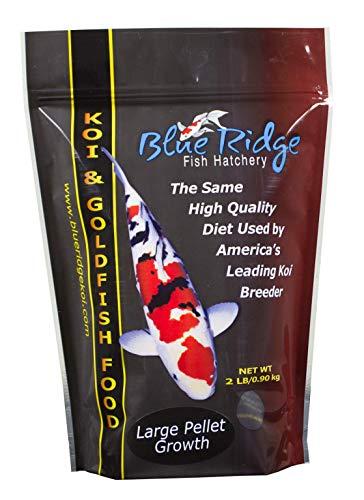 Product image of Blue Ridge Fish Food Pellets [2LB] | Koi and Goldfish Growth Formula | Floating Large Pellet, Balanced Diet