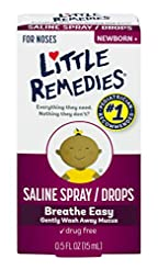 Little Remedies Saline Spray and Drops |...