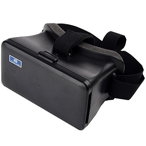 "VR Box, Generic Cardboard Head Mount Plastic Version 3D VR Virtual Reality Headset Video Glasses for iPhone 6 Plus and 5.5""-6.3"" Cellphones VR Case"