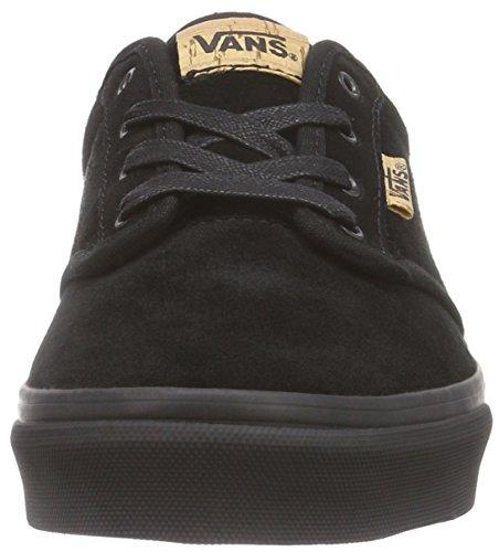 VansY ATWOOD DELUXE SUEDE - Zapatillas Niños^Niñas negro - Schwarz ((Suede) black/blanket)