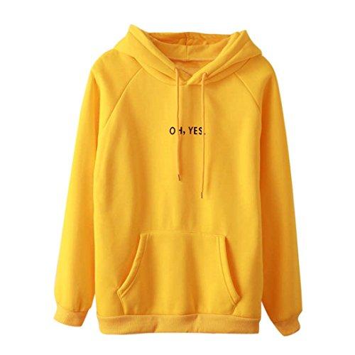 Womens White Box Quilted Jacket - Womens Hoodie, oh yes 2018 New Look Hoodie Sweatshirt Cute Long Sleeve Blouse (Yellow, S)