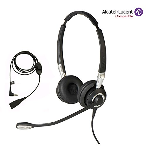 Alcatel-Lucent IP Certified Jabra BIZ 2400 II Duo NC Headset Bundle for Alcatel-Lucent IP Touch 4028, 4029, 4038, 4039, 4068, MyIC 8082