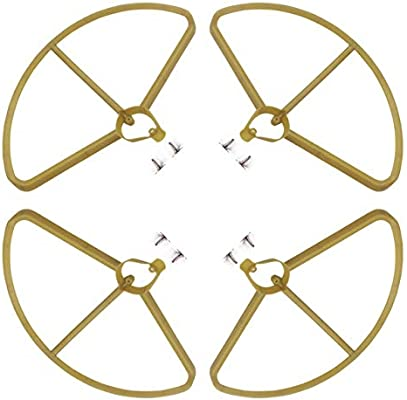RONSHIN Para HUBSAN H501S X4 Juego de Piezas H/élices Propeller Gold Accesorios de Cubierta Protectora Piezas de Repuesto Protective Cover