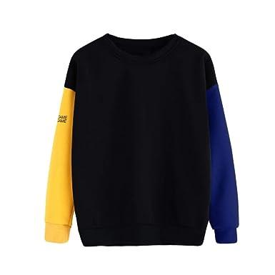 GOVOW Letter Print Hoodie Plus Size Women s Long Sleeve Blouse Black ... bca7ba87e6