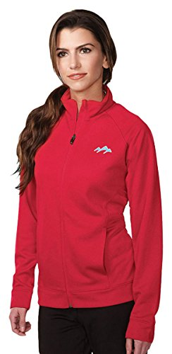 Tri-Mountain Performance KL630 Womens 100% Polyester Knit Full Zip Jacket - Red - M