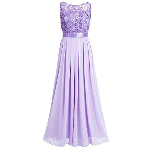 Gown Crochet Maxi Prom Party Formal YiZYiF Women Dress Lace Lavender Bridesmaid Wedding Yxgq5O
