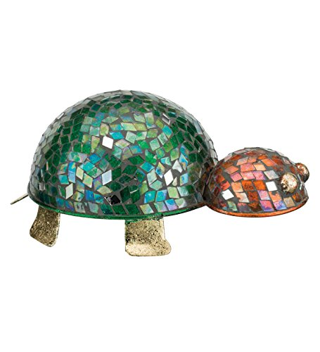 Regal Art & Gift 8 Inches x 5 Inches x 4 Inches Metal Turtle Decor Mosaic Glass for $<!--$13.98-->