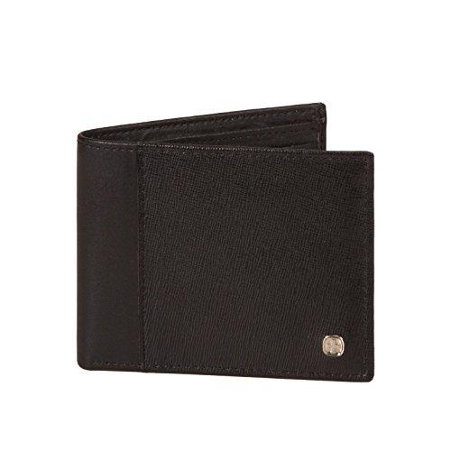 Saffiano Bi Fold (Men's Swiss Gear Saffiano Bi-fold RFID Blocking Genuine Leather Wallet - Black)